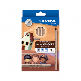 Lyra Giant Skin Tone Pencils Set 12