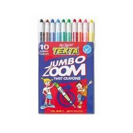 Texta Zoom Twist Jumbo Crayons