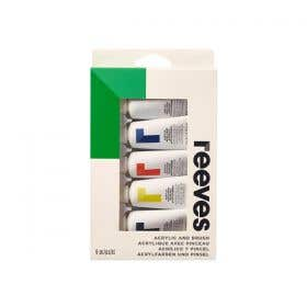 Reeves Acrylic Paint Set with Brush