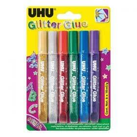 UHU Glitter Glue Pack 6