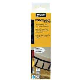 Pebeo Discovery Porcelaine 150 Primary Paint Set