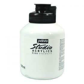 Pebeo Studio Acrylic Titanium White Paint 500ml