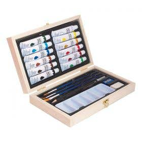 Jasart Acrylic Wooden Box Set