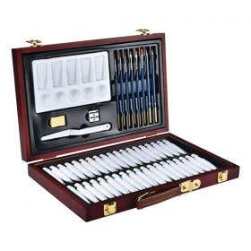 Reeves Acrylic Wooden Gift Box Set