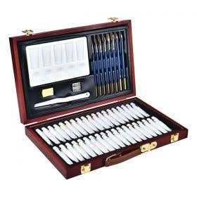 Reeves Watercolour Wooden Box Set