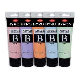 Jasart Byron Acrylic Pastel Paint 75ml Set