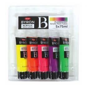 Jasart Byron Acrylic Fluorescent Paint 75ml Set