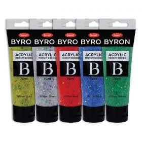 Jasart Byron Acrylic Glitter Paint 75ml Set