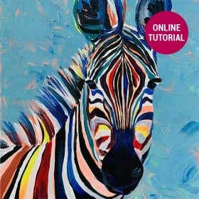 Jasart Byron Acrylic Painting Zebra Online Tutorial