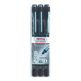 Rotring Tikky Graphic Pen Set 3