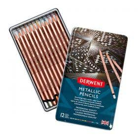 Derwent Metallic Pencil Tin Set