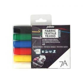 Pebeo 7A Opaque Fabric Marker Sets