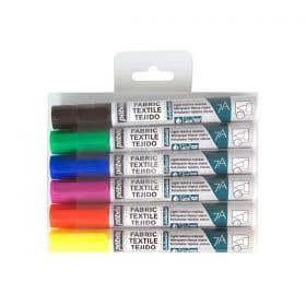 Pebeo 7A Light Fabric Marker Set