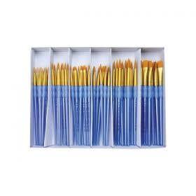 Royal Langnickel Scholastic Classroom Brush Set 72 Taklon Grip