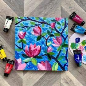Reeves Acrylics Magnolia Impasto Painting Online Tutorial
