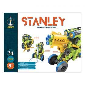 Johnco Stanley 3-in-1 Keypad Coding Robot Kit