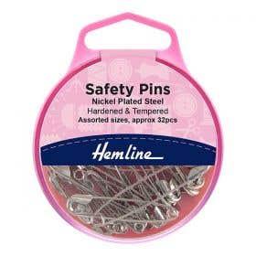 Hemline Assorted Safety Pins