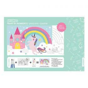 Kaisercraft Paint By Numbers Unicorn Castle Kids Canvas