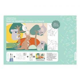 Kaisercraft Paint By Numbers Aussie Outback Kids Canvas