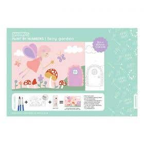 Kaisercraft Paint By Numbers Fairy Garden Kids Canvas