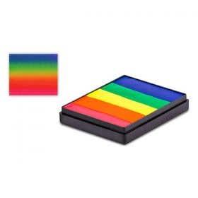 Global Colours Body Art UV Neon Rainbow Split Cake