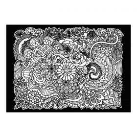 Colourme Velvet Flowers Art Poster