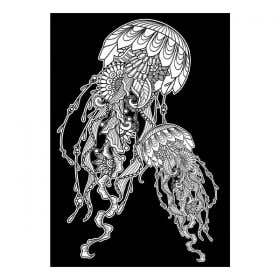 Colourme Velvet Jellyfish Art Poster