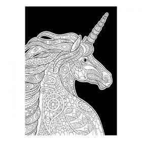 Colourme Velvet Unicorn Art Poster