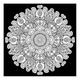Colourme Velvet Mandala Art Poster