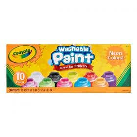 Crayola Washable Neon Paints Pack 10