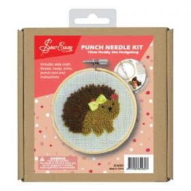 Sew Easy Heddy The Hedgehog Round Punch Needle Kit