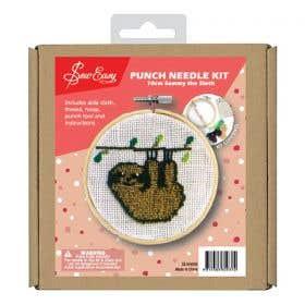 Sew Easy Sammy The Sloth Round Punch Needle Kit