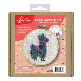 Sew Easy Larriet The Llama Round Punch Needle Kit