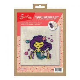 Sew Easy Mermaid Bliss Square Punch Needle Kit