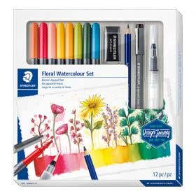 STAEDTLER Design Journey Floral Watercolour Set