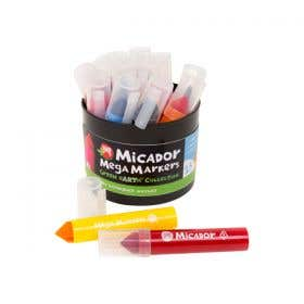 Micador Mega Markers Assorted Tub 15