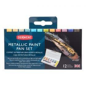 Derwent Metallic Watercolour Paint Pan Set