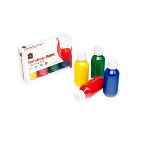EC Rainbow Acrylic Paint Set 4 x 100ml