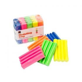 EC Multi Coloured Fluorescent Modelling Clay