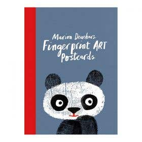 Fingerprint Art Postcards Book