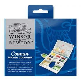 Winsor & Newton Cotman Water Colour Half Pan Compact Set