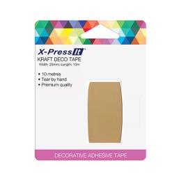 X-Press It Deco Tape Rolls Kraft 25mm x 10m