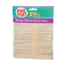 EDUcraft Wood Sticks Pack 200