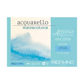 Fabriano Artistico Watercolour Pads Medium (Cold Pressed) 200gsm 12 Pages A2