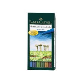 Faber-Castell Pitt Artist Brush Pen Landscape Colours (Wallet 6)