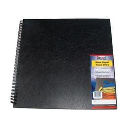 "Jasart Black Paper Visual Diaries 140gsm 40 Pages 10"" x 10"""