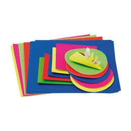 Jasart Paper Square Packs Assorted Fluoro Colours 254 x 254mm
