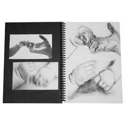 Jasart Black/White Visual Diary A3