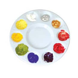 Jasart Plastic Palette 10 Well Circular Palette