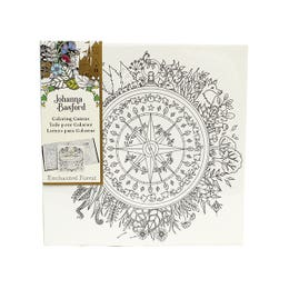 """Johanna Basford Colouring In Stretched Canvases Enchanted Forest (Compass) 12"""" x 12"""""""